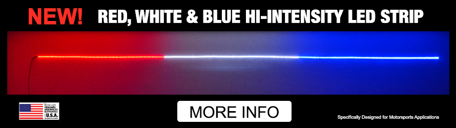 Red, White, Blue Hi-Intensity LED Strips