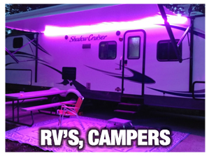 RV Awning and Under-Glow Lights