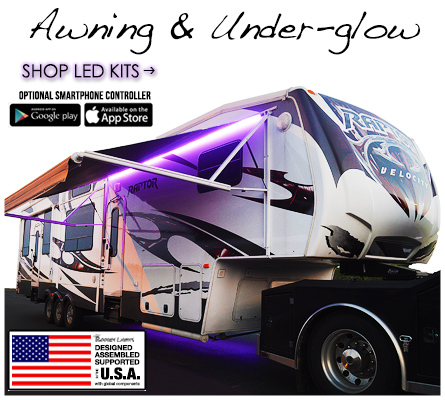 Awning and Underglow LED Light Kits for RVs