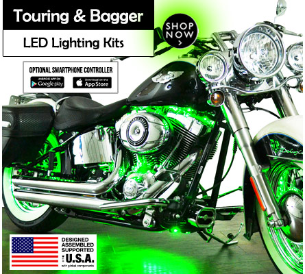 Touring and Bagger LED Light Kits for Motorcycles