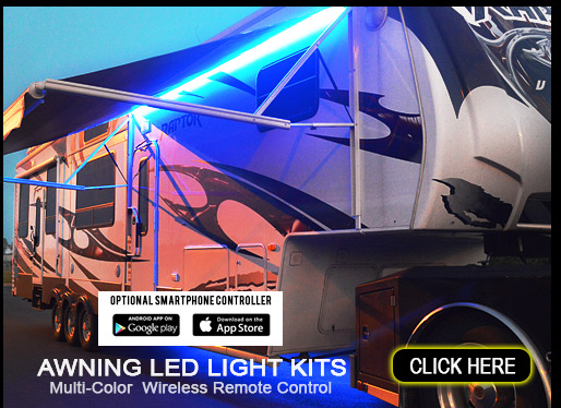 Boogey Lights® LED Awning Light Kits for RVs, Campers and Trailers