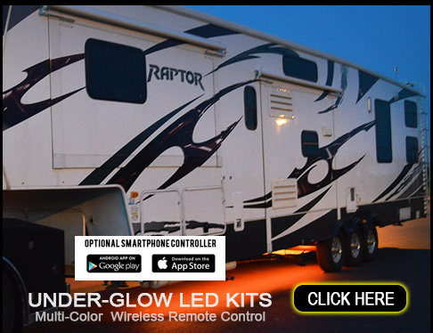 Boogey Lights® LED Under-Glow Light Kits for RVs, Campers and Trailers